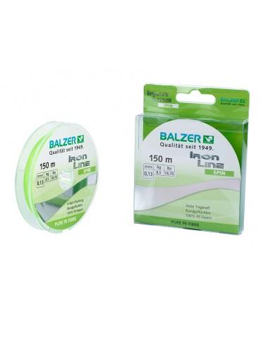 Balzer struna IRON 4x fluo zelena 150m